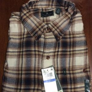 GH Bass Mens Plaid Button Down Size XL